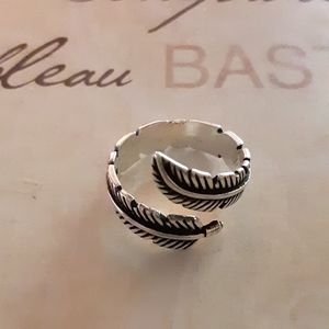Sterling Silver Angel Feather Ring